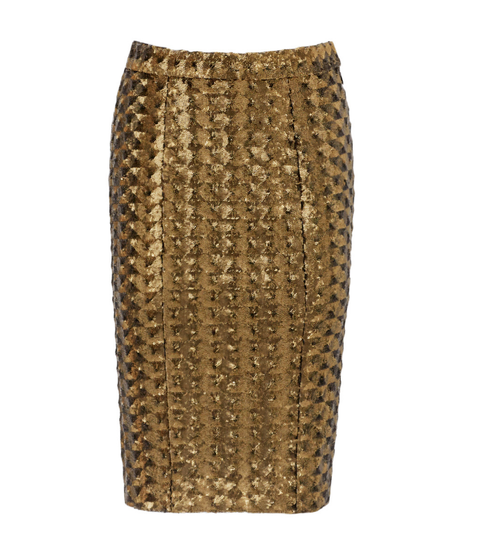 Bronze Chevron Skirt