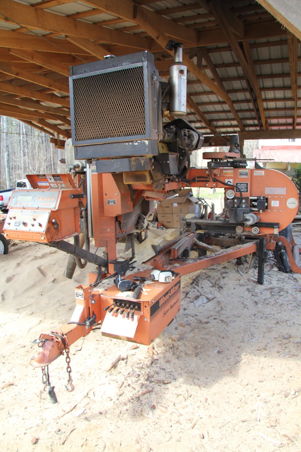 Our Wood-Mizer portable saw mill.