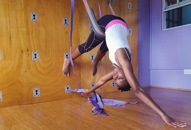 Chrislyn a  Spice Harmony Yoga Morning Glow Yoga Wall Class