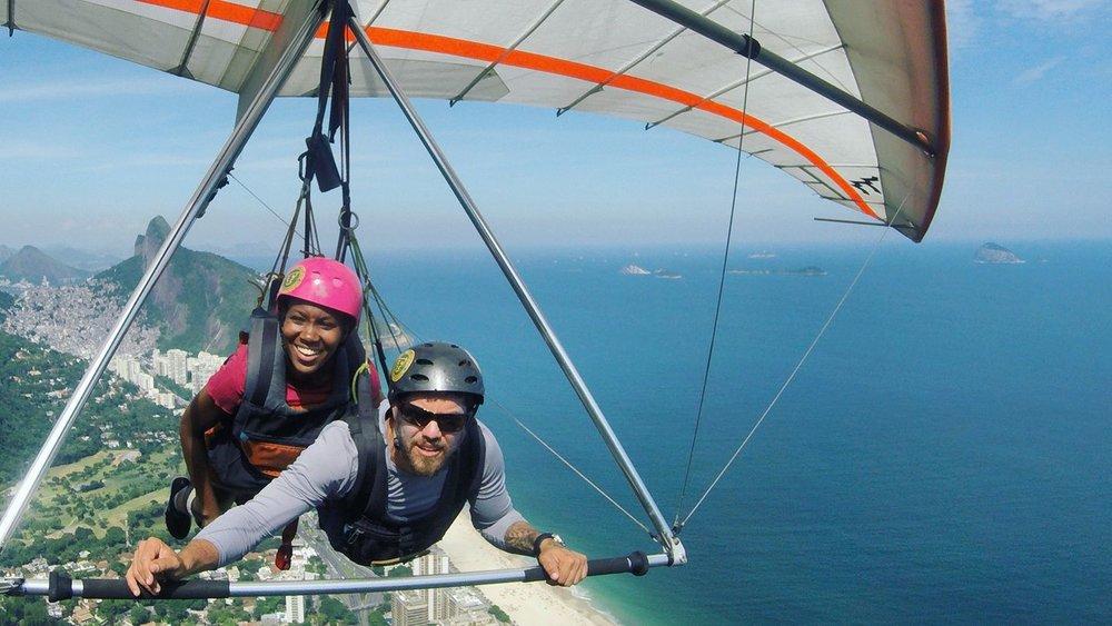 Chrislyn Lashington over Rio De Janeiro, Brazil