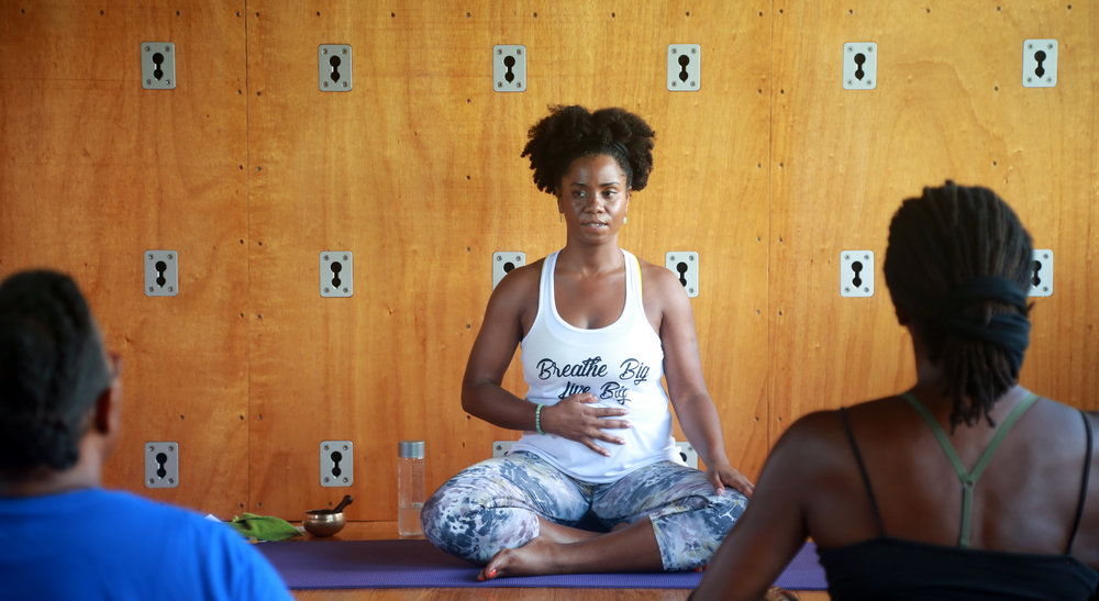 Visiting yoga teacher,  Crystal McCreary , will join us once again in November 2018
