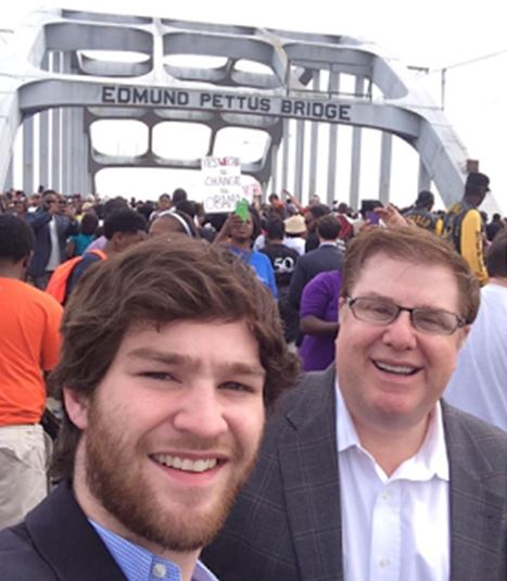 Matt and Paul Mengert at the Edmund Pettus Bridge (March 2015)