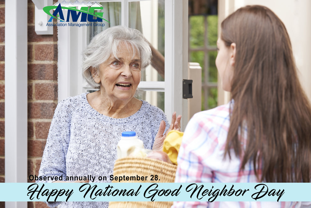 National Good Neighbor Day is observed annually on September 28.