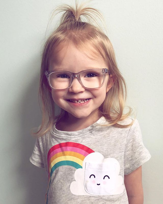 My little rainbow, growing so fast! 🌈 Rocking her new #jonaspauleyewear and looking super cute!