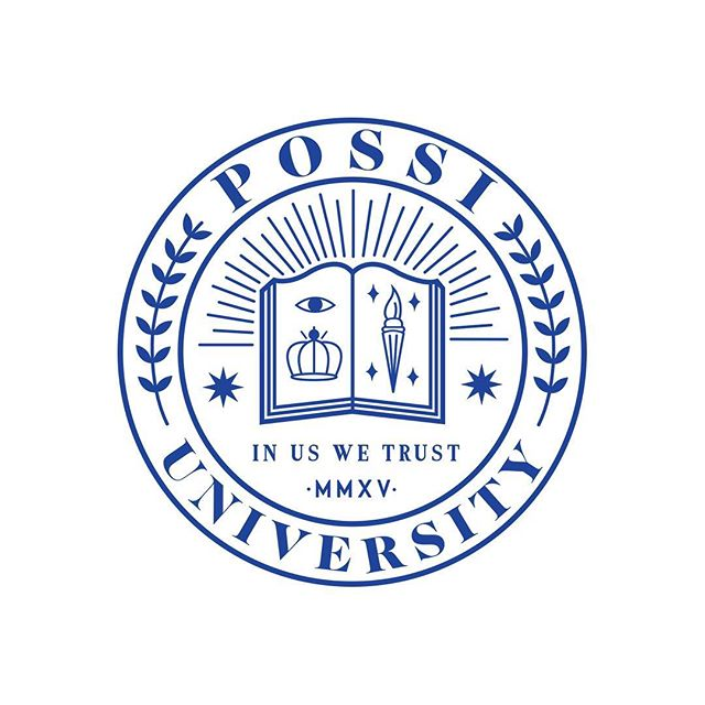 "The Possi University crest. ""In Us We Trust"". MMXV."
