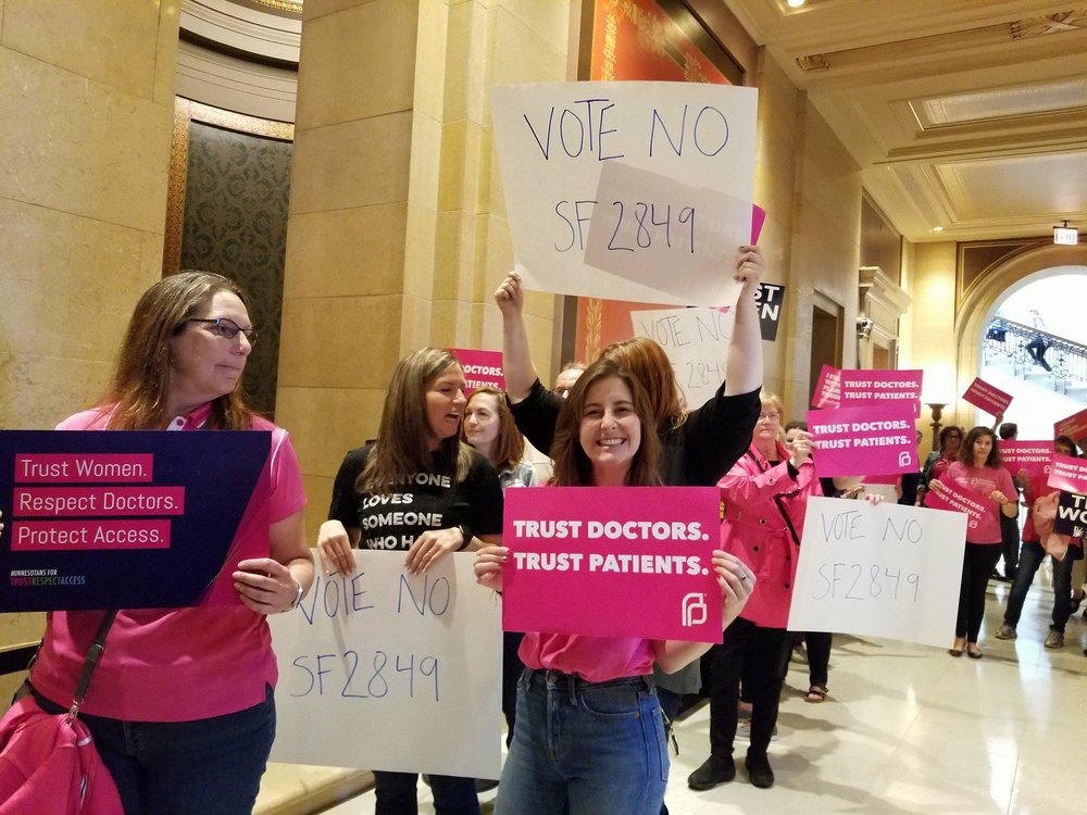 Photos from the rally outside the House Chamber to protest the bill.