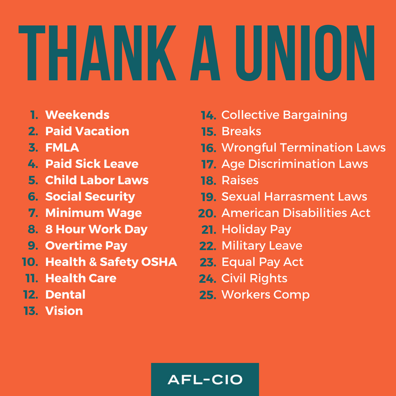 Do Any of These Sound Familiar?  - Unions are a microcosm of democracy - everyone gets an equal and respected voice, with a majority vote determining the union's trajectory.  For workers who are too often denied the right to speak and be heard, and the privileges that come with a community of people who have your back, union representation offers hope.