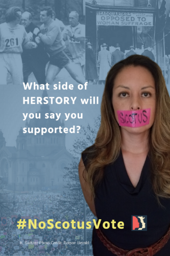 4x6 postcard, collage. What side of HERSTORY will you say you supported_ Womens March MN #NoScotusVote.png