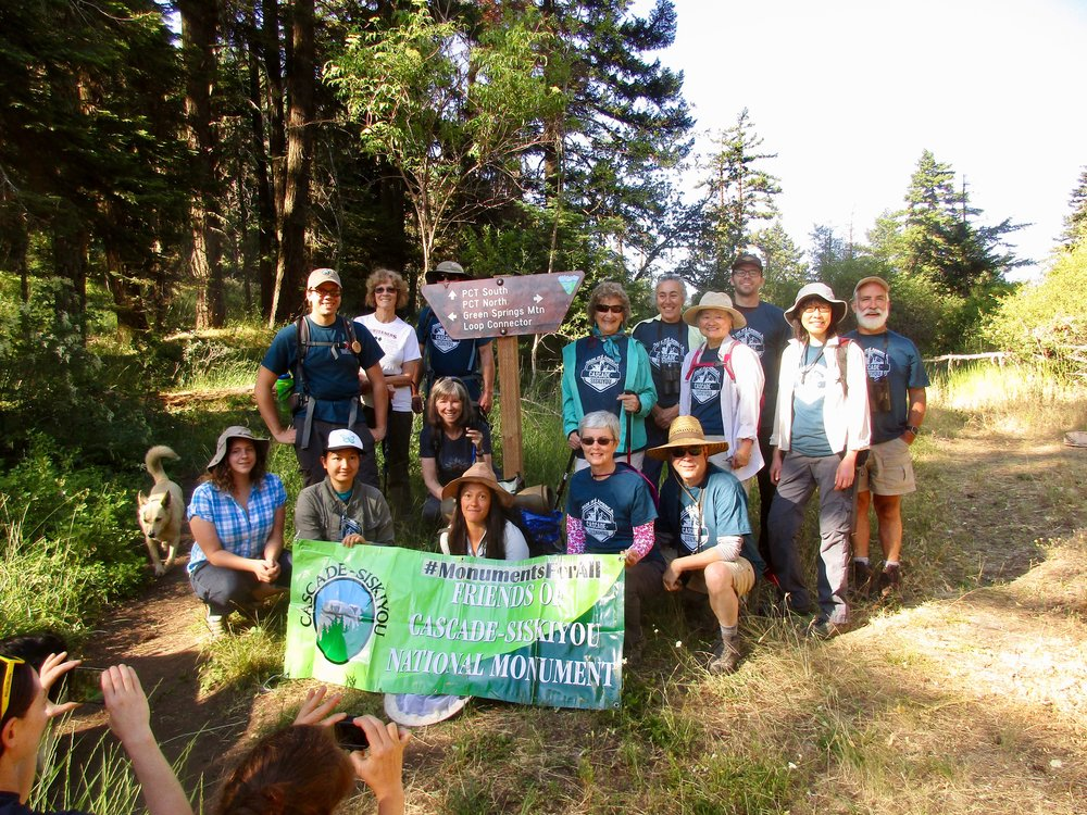 Hike and Learn Group exloring the monument with biologist Michael Parker Photo Credit: Jim Bronson