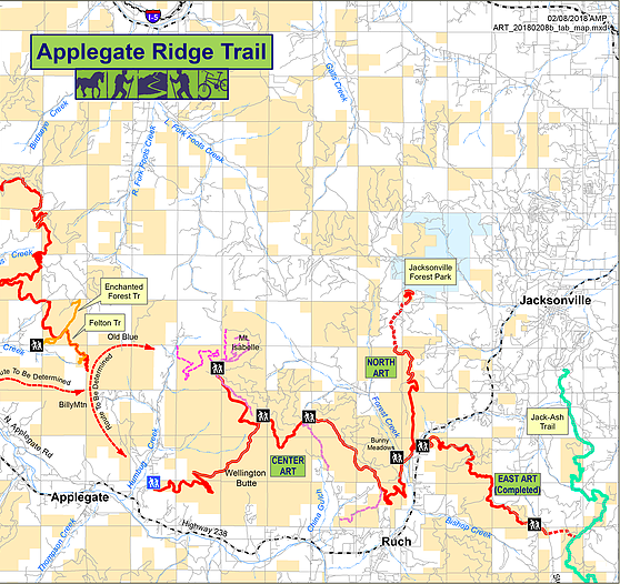 Lots of happy trails in the Applegate area. Image courtesy Applegate Trail Association