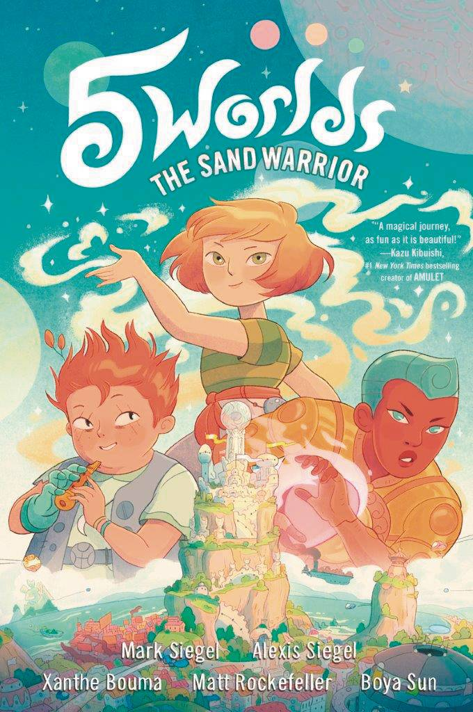 5 Worlds: The Sand Warrior by Mark Siegel, Alexis Siegel, Matt Rockefeller, Boya Sun, & Xanthe Bouma