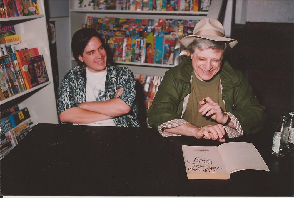 Kelley Jones (l), Harlan Ellison (r)