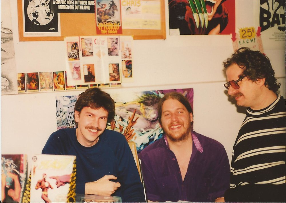 Sam Keith (l), Brian Hibbs (c), William Messner Loebs (r)
