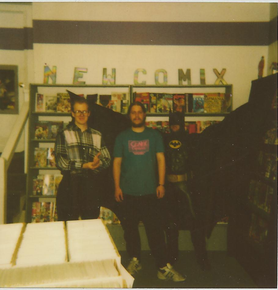 Samm Hamm writer of first Batman movie (l), Brian Hibbs (r)