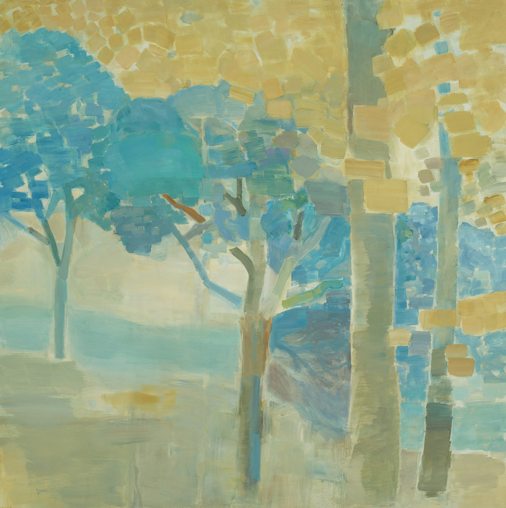 DOWN FROM THE RIDGE  •  oil on canvas  •  40 by 40 inches  •  2012