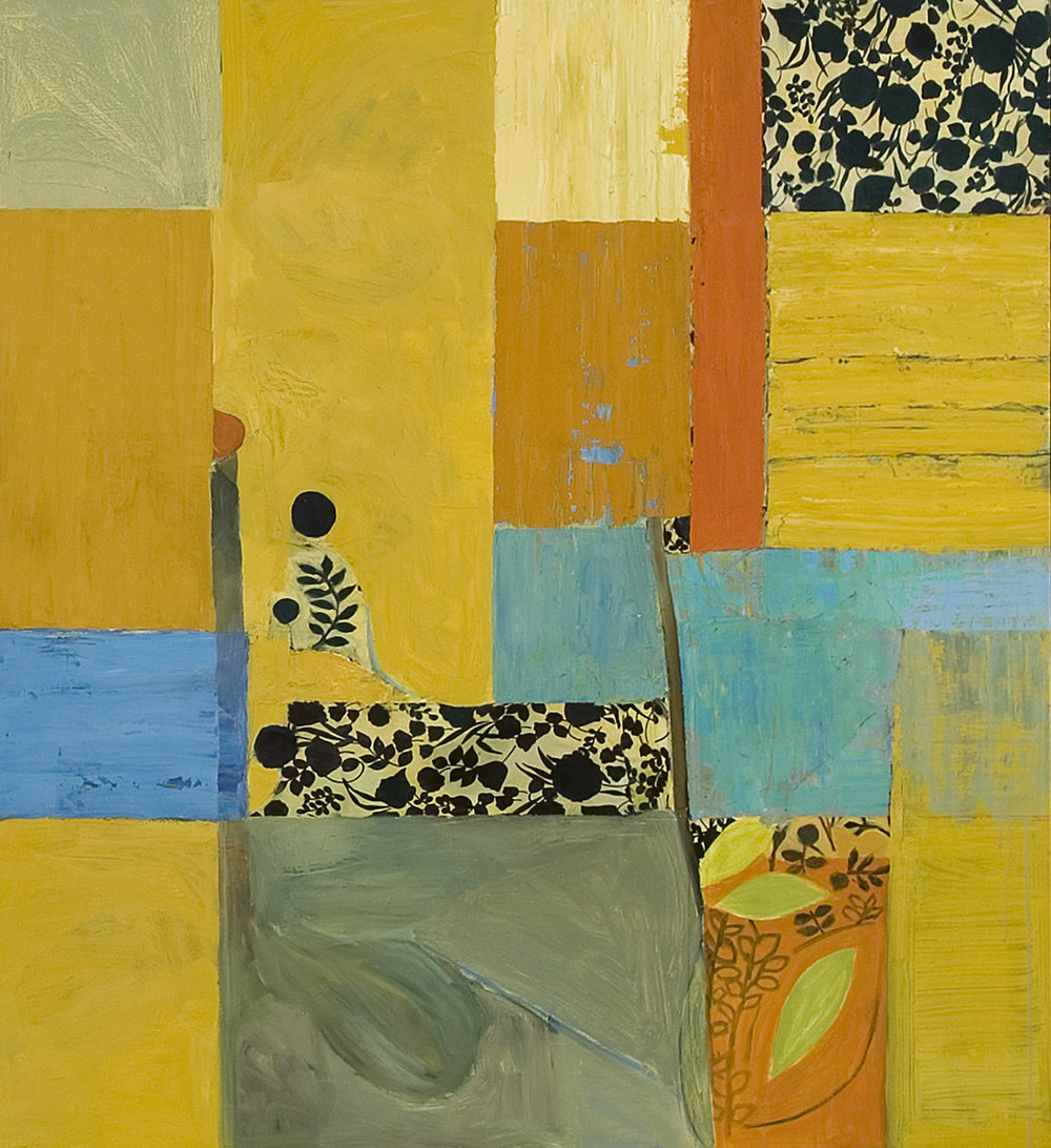 SUMMER  •  oil and silk on wood  •  52 by 44 inches  •  2006