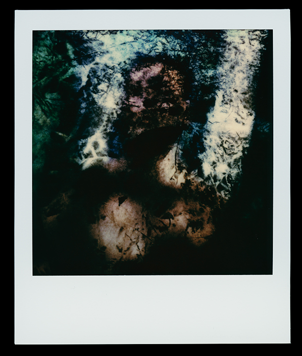 Frame # 25   Virgo    Solo Exhibition    Escape Artist Studios,   SX70 Film, monoprint  Light Chamber, Type V  2019