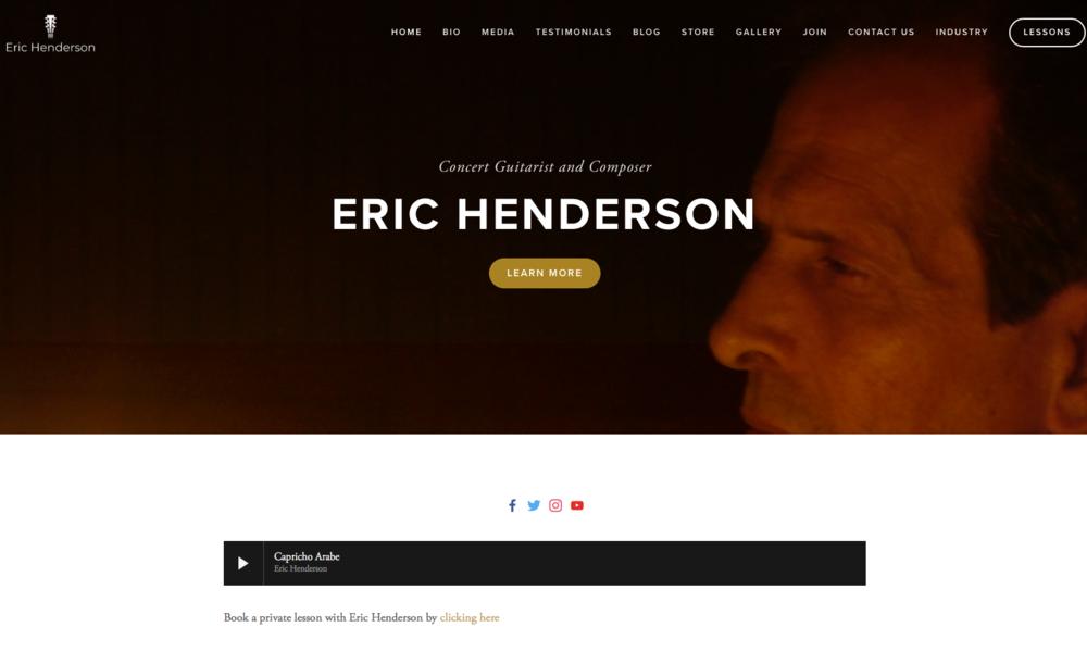 Eric Henderson Website