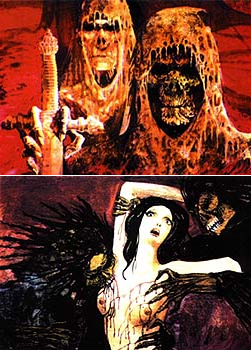 Amando de Ossorio supplemented his income with  original artwork  of his Satanic, vampiric, mummy/zombies.
