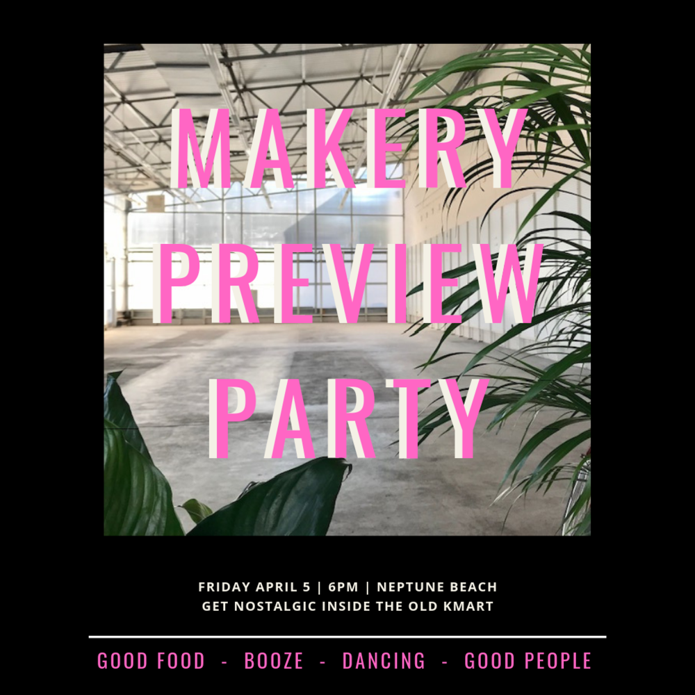 Friday - April 5VIP Preview Party - Get the first peek of the market, shop, eat, drink, connect and if you want to dance the night away, Generation Y Entertainment is ready for you!Doors open at 6. Shop with select Makers from 7-8. Your $20 ticket includes one handcrafted cocktail from The Sangria Truck small bites from Barrique Kitchen and Wine Bar, Sweet Petes Candy, and Ana Maria Kitchen. Cash Bar available all night, along with good music and great company!Your ticket is also good for Sat and Sun admission to the Makery Spring Market. A portion of proceeds from this event benefit Fur Sisters. It is incredible what they do for the pups in our community and we are proud to help further their mission.
