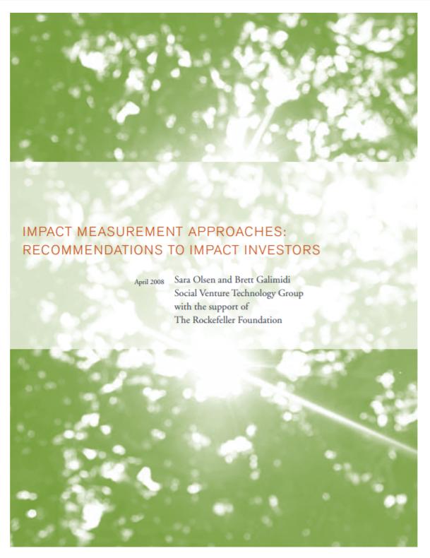 SVT - Impact Management, PDF, Investors