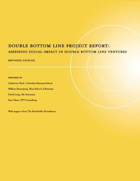 SVT - Impact Management, PDF, Social Impact