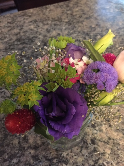 Small arrangements for corsages or Boutonnieres.