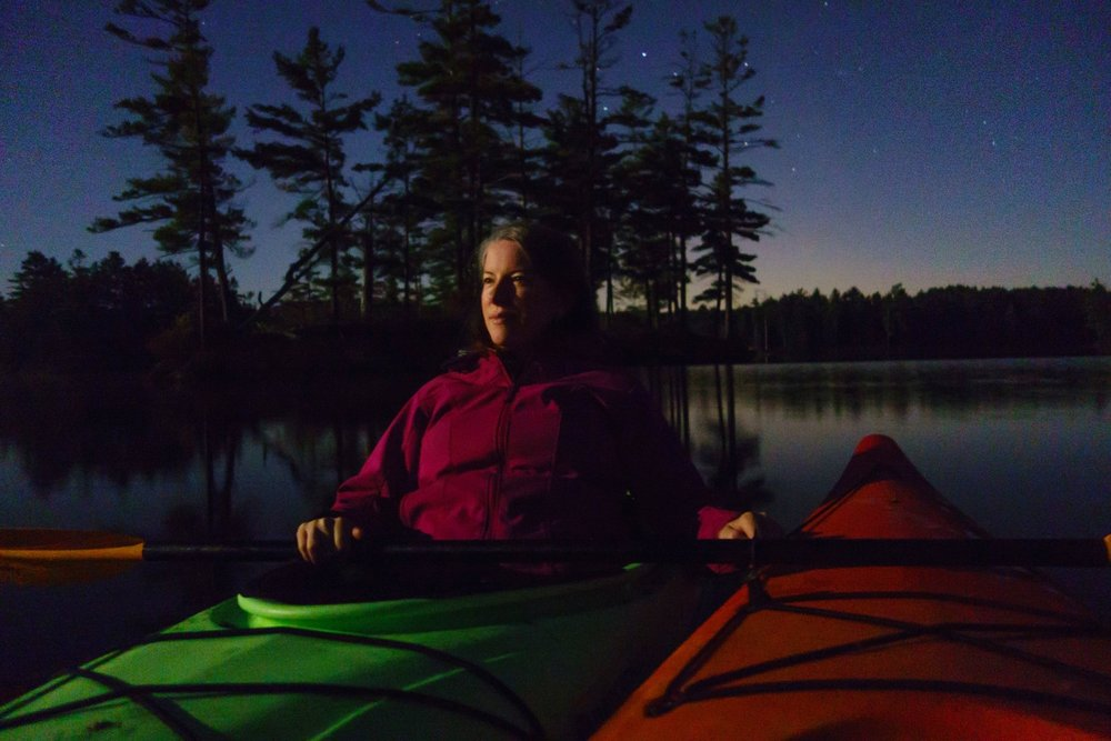 Full moon over Lake Tully, Mass., 2013. This and homepage photos by Laurent Lecordier.
