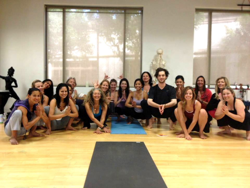 Teacher training at the Yoga Den, Corona, California.