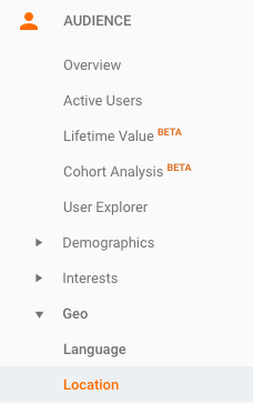 location report google analytics