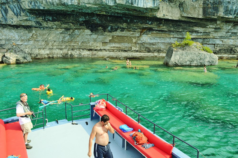WEEKEND SWIM CRUISE - Enjoy a fun afternoon on the water in Fathom Five National Marine Park! Bring a picnic, towel and your swimsuit as we will take you to a beautiful hidden area, where we stop for a swim. Be one of only 12 passengers on our spacious tug the Nor'Light, and meet our friendly, knowledgeable guides for this memorable 2.5 - 3 hour eco-tour.Adults - $59 plus tax. Book your escape now!