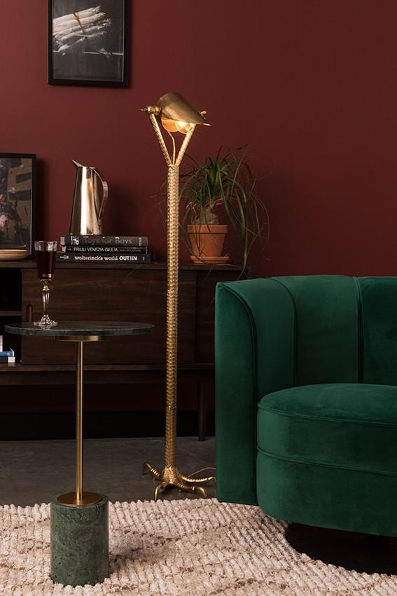 Stunning Heron foot floor light  £345 also available as a desk light £195
