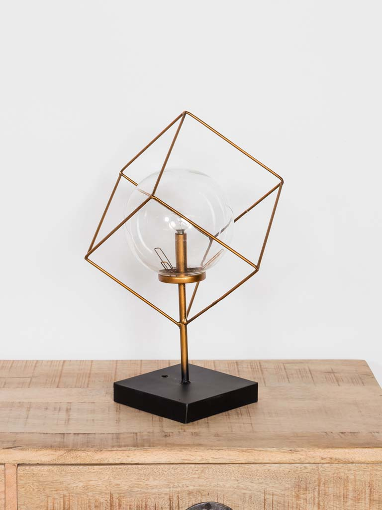 Cube light A great decorative piece, perfect for an industrial or rustic style home decor. A trendy accessory. Battery operated. £43