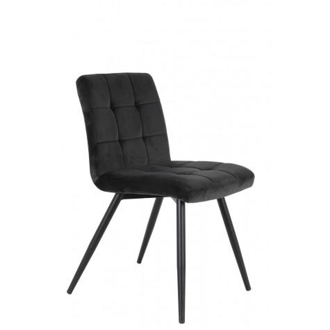 Velvet dining chair black .jpg