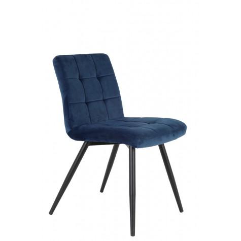 Velvet dining chair blue .jpg
