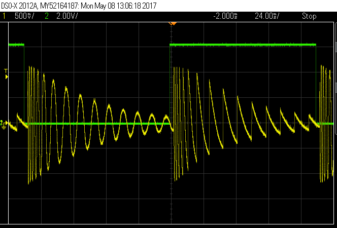 Basimilus Iteritas Alter modulated by Zularic Repetitor: when the green line is high, the signal is modulated. When it is low, the signal is not and you hear only what BIA produces.