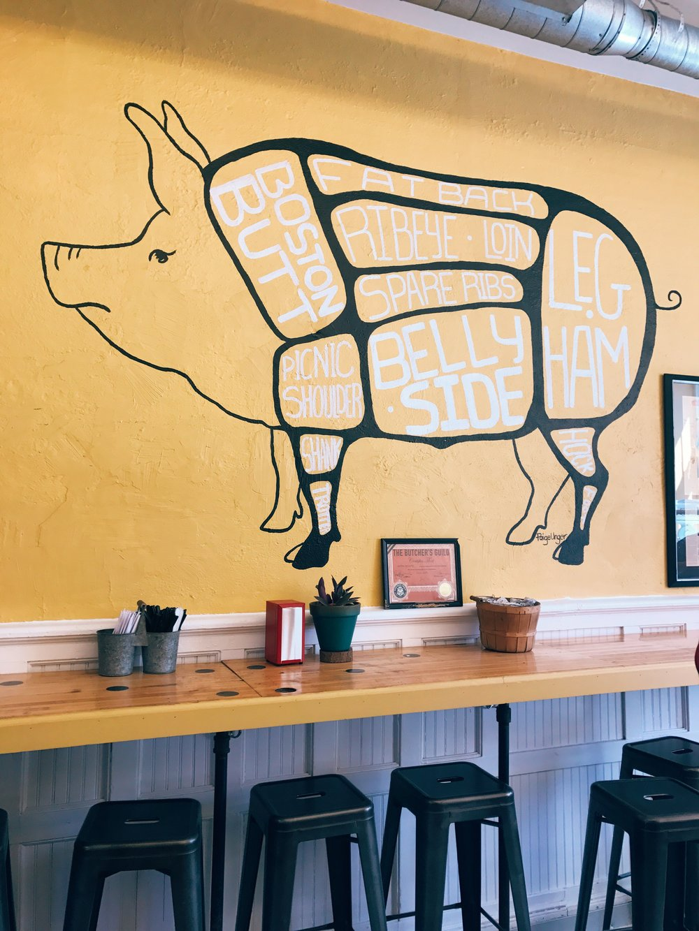 Local Pig. Photo by Anna Petrow