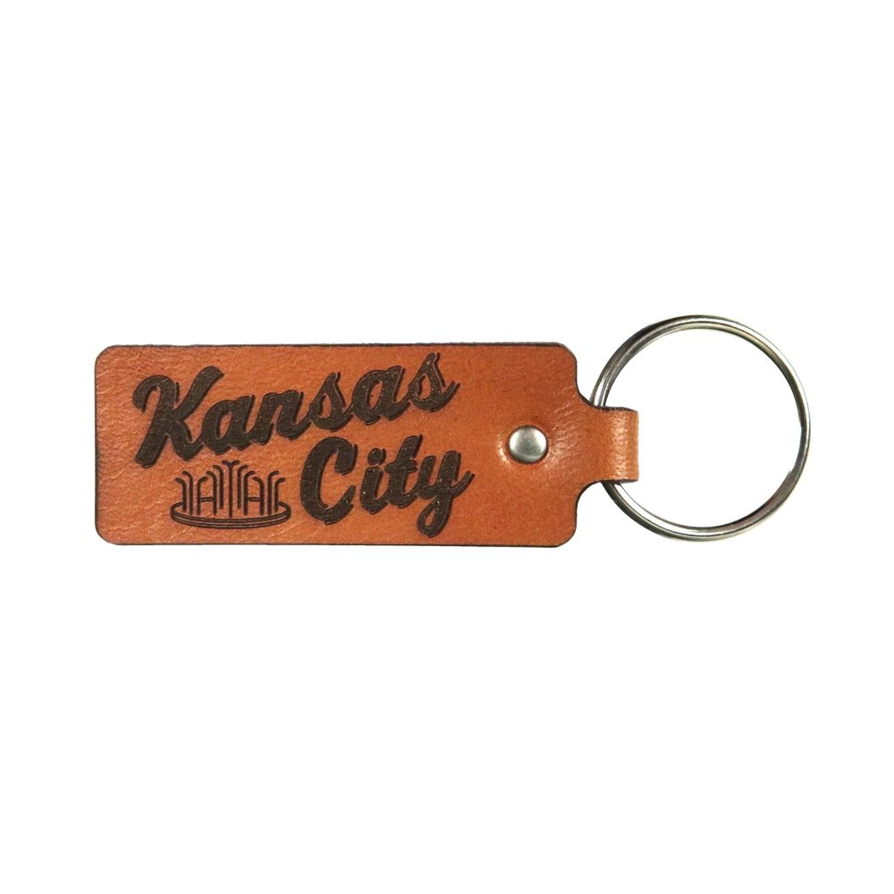 Leather Kansas City Keychain