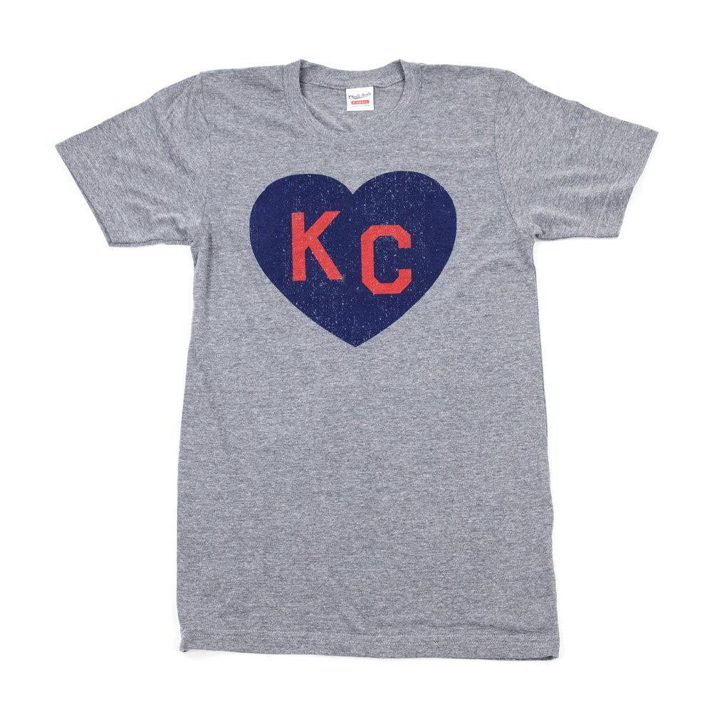 Grey KC Heart Shirt