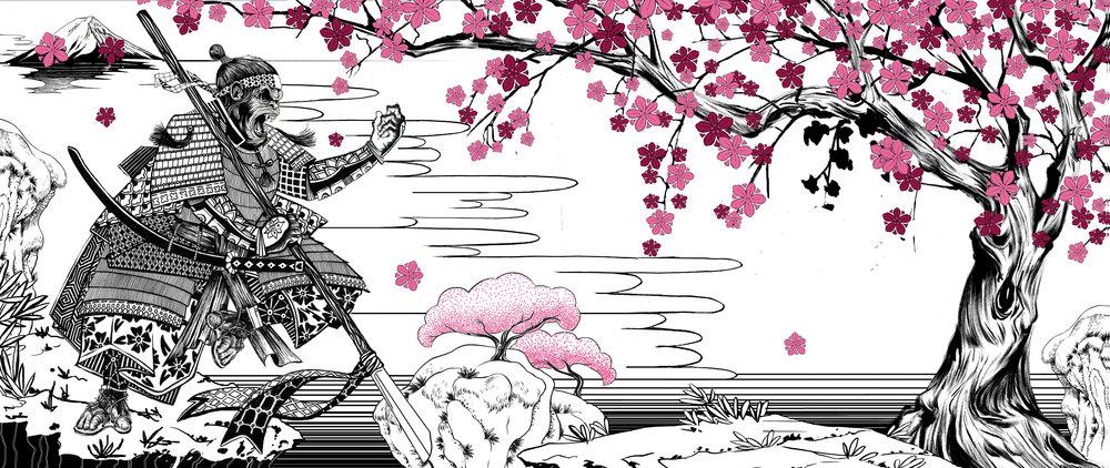 Onnit Samurai Chimp Mural