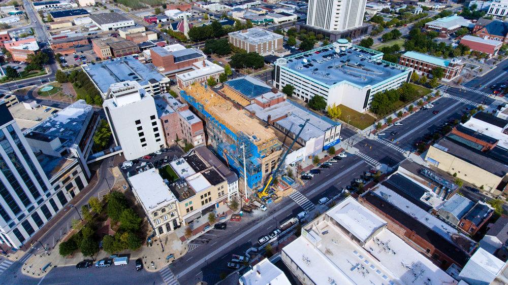 11-9-16 drone view of lower dexter cranes Kress under construction.jpg