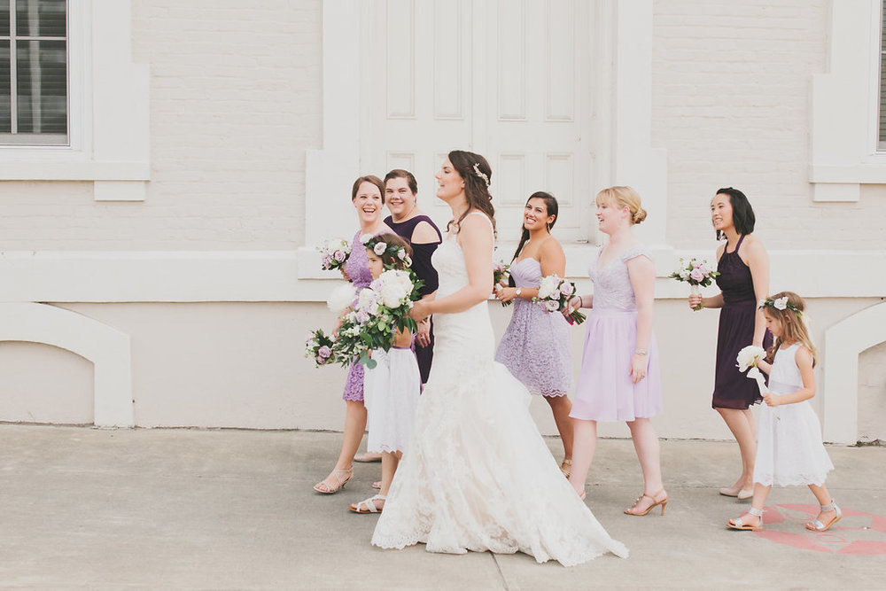 Wedding Party Portraits at American Tobacco Campus by  Merritt Chesson Photography