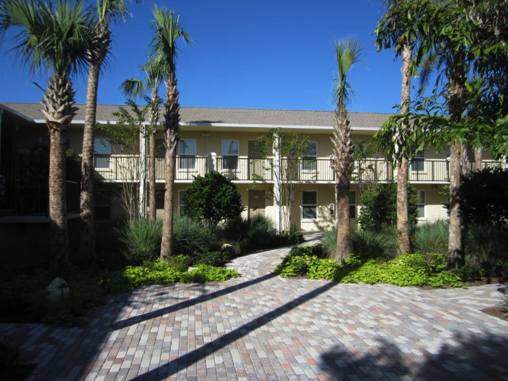Mariposa - Funded through the U.S. Department of Housing and Urban Development's Neighborhood Stabilization Program (NSP), Framework and DDA Development formed a joint-venture to purchase, rehabilitate and re-lease this 38-unit apartment project in Tampa, FL. Formerly a neglected property that was a blight to one of the largest medical and middle-income communities in Tampa Bay, this property was completely transformed utilizing Green Building Practices such as low e windows, new insulation, Energy Star appliances, FL-friendly landscaping, low flow plumbing fixtures and solar powered common hot water. Through this effort, the Framework/DDA partnership has re-set the life of this structure for the next 30 years. Sustainability starts with projects such as this, and we were proud to have been awarded funds from HUD and the City of Tampa to help meet the goals of the NSP program.