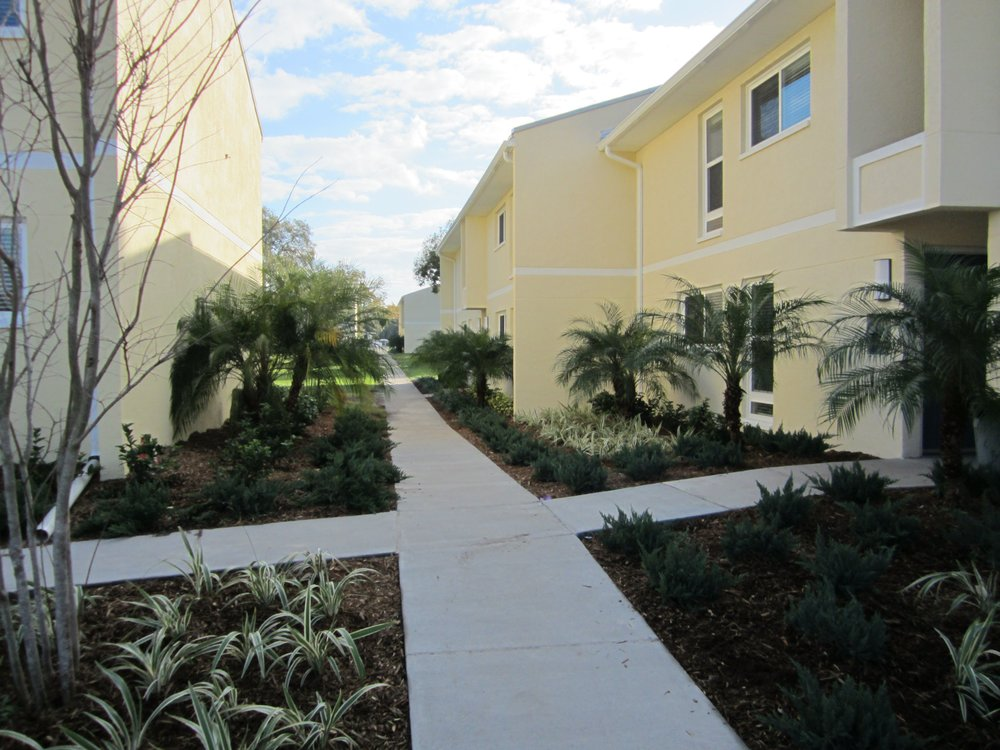 Oakview - Through a partnership with DDA and MHC, Inc. (a health care non-profit), Framework served as co-developer and general contractor for this 55-unit rehab funded by HUD's Neighborhood Stabilization Program. This property is located in the 40th St. corridor of the City of Tampa, which has recently seen a $50M infrastructure investment. Similar to Mariposa, this neglected building and property had been foreclosed and vacant. It, too, was renovated with the latest Green Building practices, and began leasing in September 2011. Oakview's management was recognized for its rehabilitation of the Tampa apartment homes.