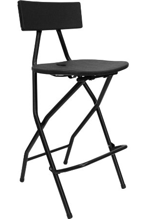 Black Resin Barstool