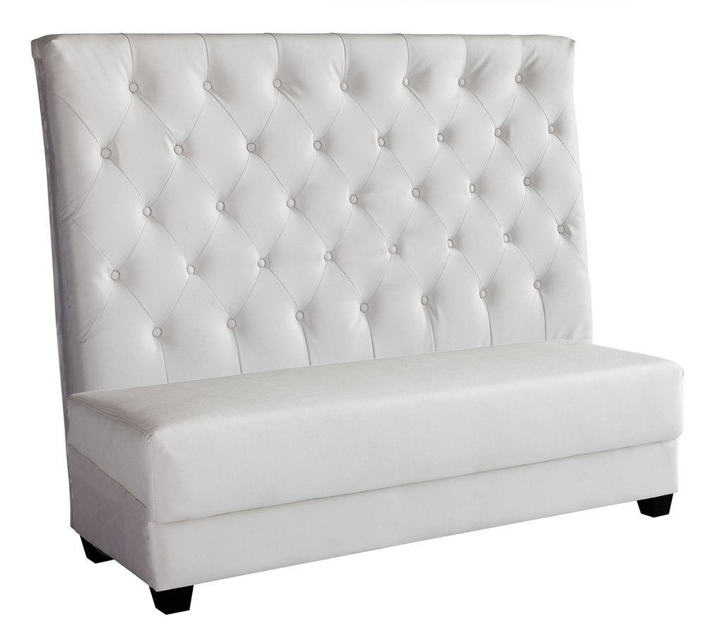 White Tufted Settee