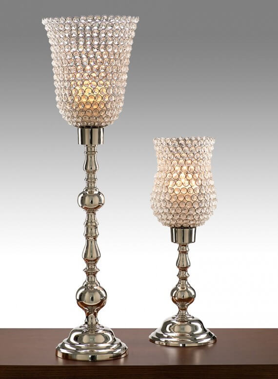 Tall & Short Hurricane Crystal Globes
