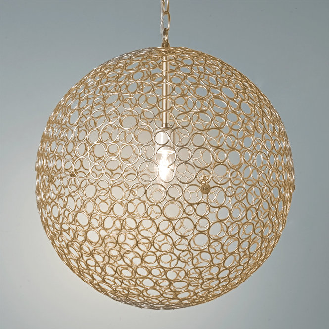Gold Sphere Chandelier