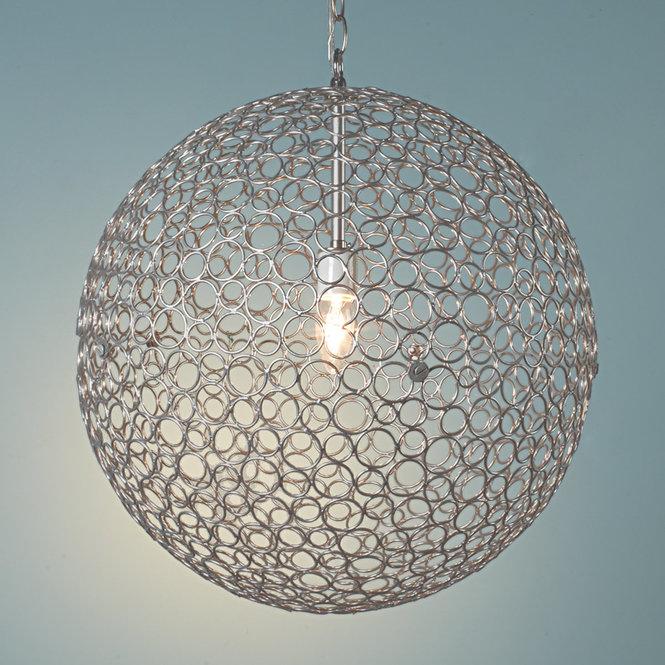 Silver Sphere Chandelier