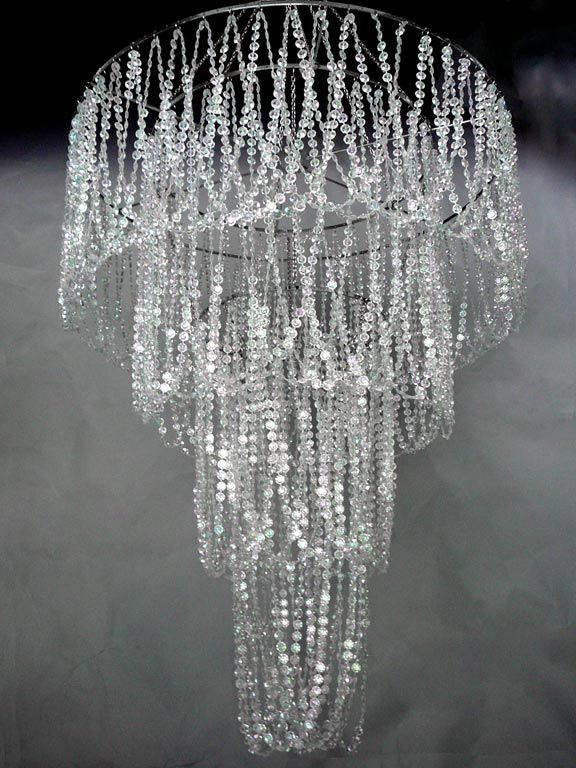 Acrylic Beaded Chandelier
